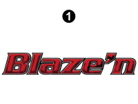 Blaze'n - 2016 Blaze'n TT-Travel Trailer Red Version - Large Blaze'n Logo