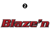 Blaze'n - 2016 Blaze'n TT-Travel Trailer Red Version - Small Blaze'n Logo