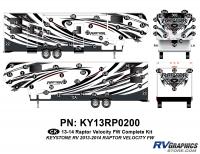 Raptor - 2013 Raptor Velocity FW-Fifth Wheel - 80 Piece 2013 Raptor Velocity FW Complete Graphics Kit