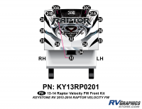 Raptor - 2013 Raptor Velocity FW-Fifth Wheel - 16 Piece 2013 Raptor Velocity FW Front Graphics Kit