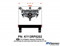 Raptor - 2013 Raptor Velocity FW-Fifth Wheel - 4 Piece 2013 Raptor Velocity FW Rear Graphics Kit