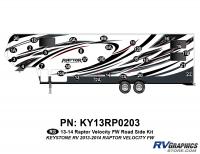 Raptor - 2013 Raptor Velocity FW-Fifth Wheel - 30 Piece 2013 Raptor Velocity FW Roadside Graphics Kit