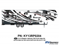 Raptor - 2013 Raptor Velocity FW-Fifth Wheel - 30 Piece 2013 Raptor Velocity FW Curbside Graphics Kit