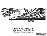 Raptor - 2013 Raptor FW-Fifth Wheel - 29 Piece 2013 Raptor FW Roadside Graphics Kit