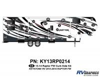 Raptor - 2013 Raptor FW-Fifth Wheel - 29 Piece 2013 Raptor FW Curbside Graphics Kit