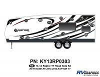 Raptor - 2013 Raptor TT-Travel Trailer - 17 Piece 2013 Raptor TT Roadside Graphics Kit