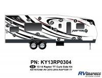 Raptor - 2013 Raptor TT-Travel Trailer - 17 Piece 2013 Raptor TT Curbside Graphics Kit