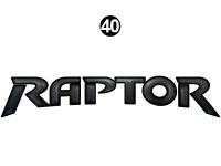 Raptor - 2013 Raptor SE FW-Fifth Wheel - Front/Rear Raptor Logo