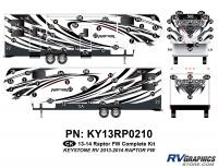 Raptor - 2013 Raptor FW-Fifth Wheel - 78 Piece 2013 Raptor FW Complete Graphics Kit