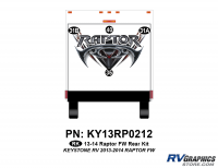 Raptor - 2013 Raptor FW-Fifth Wheel - 4 Piece 2013 Raptor FW Rear Graphics Kit