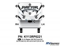 Raptor - 2013 Raptor SE FW-Fifth Wheel - 9 Piece 2013 Raptor SE FW Front Graphics Kit