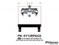2 Piece 2013 Raptor SE FW Rear Graphics Kit