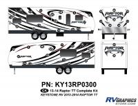 Raptor - 2013 Raptor TT-Travel Trailer - 44 Piece 2013 Raptor TT Complete Graphics Kit