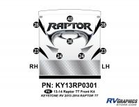 Raptor - 2013 Raptor TT-Travel Trailer - 8 Piece 2013 Raptor TT Front Graphics Kit
