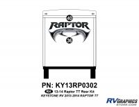 2 Piece 2013 Raptor TT Rear Graphics Kit