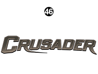 Crusader - 2014 Crusader FW-Fifth Wheel White Cap - Side / Rear Crusader Logo
