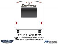 Crusader - 2014 Crusader FW-Fifth Wheel Brown Cap - 1 Piece 2014 Crusader Fifth Wheel Rear Graphics Kit