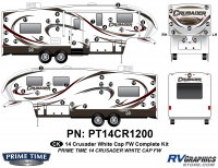 Crusader - 2014 Crusader FW-Fifth Wheel White Cap - 52 Piece 2014 Crusader White Cap Fifth Wheel Complete Graphics Kit