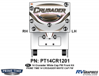 Crusader - 2014 Crusader FW-Fifth Wheel White Cap - 9 Piece 2014 Crusader White Cap Fifth Wheel Front Graphics Kit