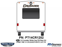 Crusader - 2014 Crusader FW-Fifth Wheel White Cap - 1 Piece 2014 Crusader White Cap Fifth Wheel Rear Graphics Kit