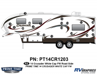 Crusader - 2014 Crusader FW-Fifth Wheel White Cap - 21 Piece 2014 Crusader White Cap Fifth Wheel Roadside Graphics Kit