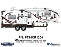 Crusader - 2014 Crusader FW-Fifth Wheel White Cap - 21 Piece 2014 Crusader White Cap Fifth Wheel Curbisde Graphics Kit