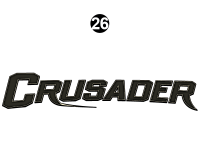 Crusader - 2015 Crusader Lite FW-Fifth Wheel - Side / Rear Crusader Logo