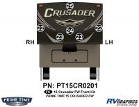 Crusader - 2015 Crusader FW-Fifth Wheel - 6 Piece 2015 Crusader FW Front Graphics Kit