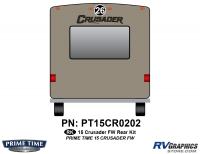 Crusader - 2015 Crusader FW-Fifth Wheel - 1 Piece 2015 Crusader FW Rear Graphics Kit