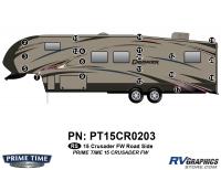 Crusader - 2015 Crusader FW-Fifth Wheel - 20 Piece 2015 Crusader FW Roadside Graphics Kit