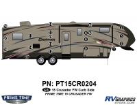 Crusader - 2015 Crusader FW-Fifth Wheel - 20 Piece 2015 Crusader FW Curbside Graphics Kit