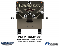Crusader - 2015 Crusader Lite FW-Fifth Wheel - 6 Piece 2015 Crusader Lite FW Front Graphics Kit