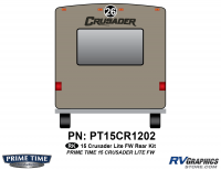 Crusader - 2015 Crusader Lite FW-Fifth Wheel - 1 Piece 2015 Crusader Lite FW Rear Graphics Kit