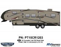 Crusader - 2015 Crusader Lite FW-Fifth Wheel - 15 Piece 2015 Crusader Lite FW Roadside Graphics Kit