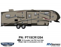 Crusader - 2015 Crusader Lite FW-Fifth Wheel - 15 Piece 2015 Crusader Lite FW Curbside Graphics Kit