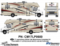 Leprechaun - 2016-2017 Leprechaun MH-Motorhome White Cab - 48 piece 2016 (Late) Leprechaun White Cab Complete Graphics Kit