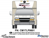 Leprechaun - 2016-2017 Leprechaun MH-Motorhome White Cab - 2 piece 2016 (Late) Leprechaun White Cab Front kit