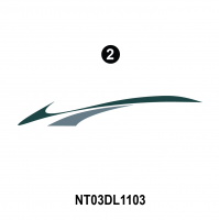 Dolphin - 2003 Dolphin Teal Economy Version - Rear Assembly