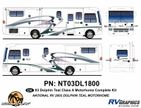 2003 Dolphin Teal Complete Graphics Kit