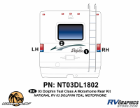 Dolphin - 2003 Dolphin Teal Version - 2003 Dolphin Teal Rear Graphics Kit