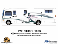 Dolphin - 2003 Dolphin Teal Version - 2003 Dolphin Teal Roadside Graphics Kit