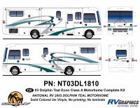 Dolphin - 2003 Dolphin Teal Economy Version - 2003 Dolphin Teal Economy Complete Graphics Kit