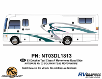 Dolphin - 2003 Dolphin Teal Economy Version - 2003 Dolphin Teal Economy Roadside Graphics Kit
