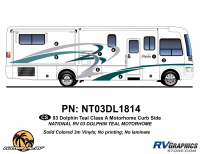 Dolphin - 2003 Dolphin Teal Economy Version - 2003 Dolphin Teal Economy Curbside Graphics Kit