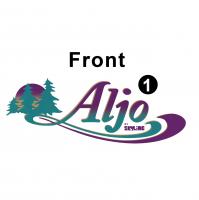 Aljo - 2000 Aljo TT-Metal Trailer - Front Aljo logo