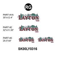 Layton - 2000 Layton TT- Metal Wall Rockguard Front - 2000-2003 Layton TT Rockguard Unit Logos Only Kit