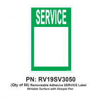 RV Labels - RV Service Label - 50 Pack of SERVICE label