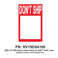RV Labels - RV Dont Ship Label - 100 Pack of Don't Ship label
