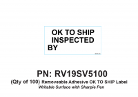 RV Labels - RV OK To Ship Label - 100 Pack of OK to Ship label