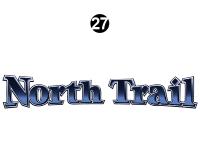 North Trail - 2013 North Trail Caliber Edition TT-Travel Trailer - Side / Rear North Trail Logo